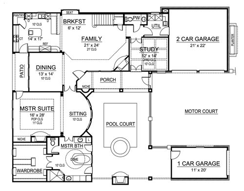 First Floor image of Featured House Plan: BHG - 4903