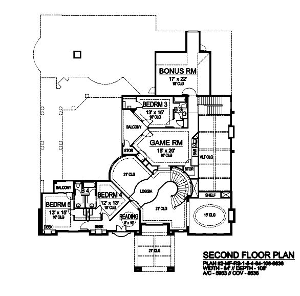 Second Floor image of Featured House Plan: BHG - 9061