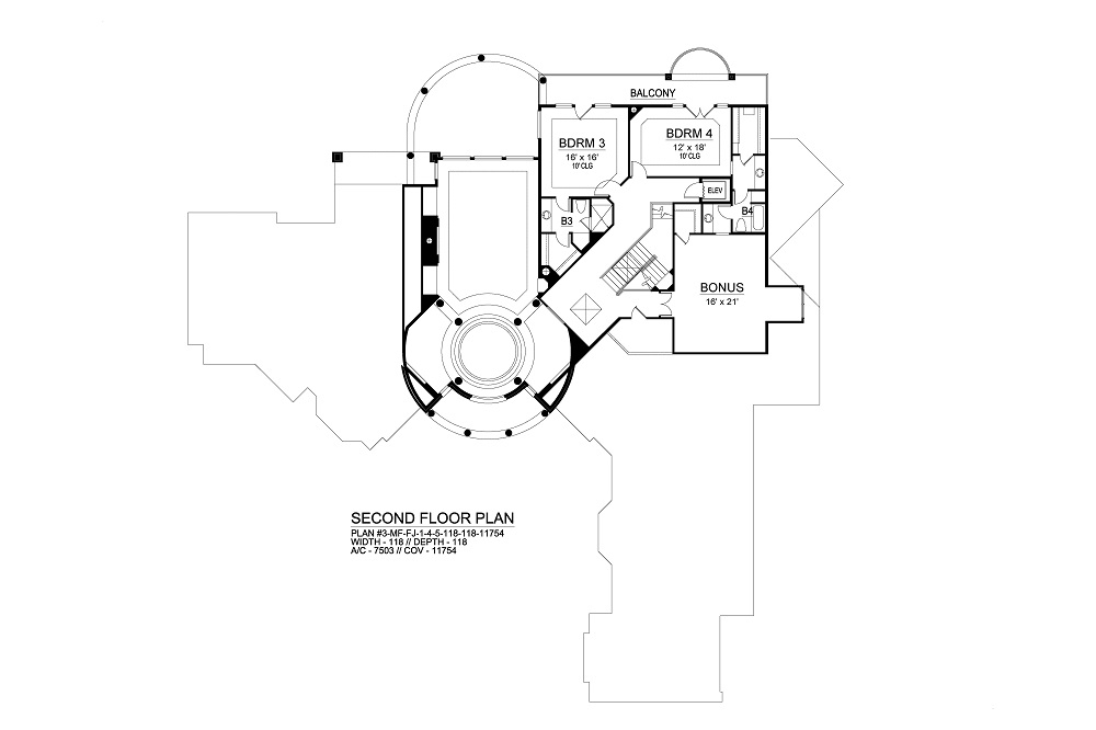 Second Floor image of Featured House Plan: BHG - 9776