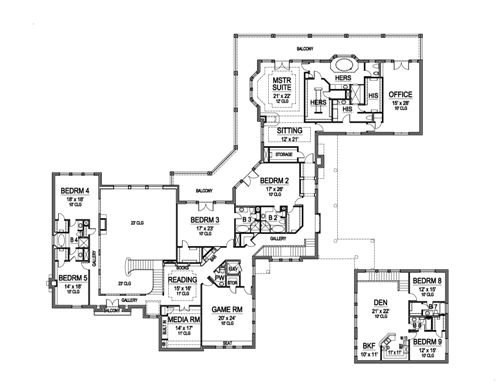 Second Floor image of Featured House Plan: BHG - 5163