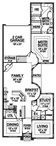 First Floor image of Featured House Plan: BHG - 4947