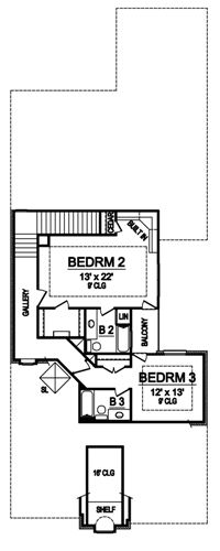 Second Floor image of Featured House Plan: BHG - 4947