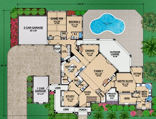 First Floor 2 image of Featured House Plan: BHG - 4895