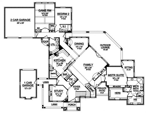 First Floor image of Featured House Plan: BHG - 4895