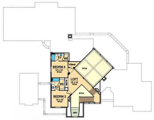 Second Floor 2 image of Featured House Plan: BHG - 4895