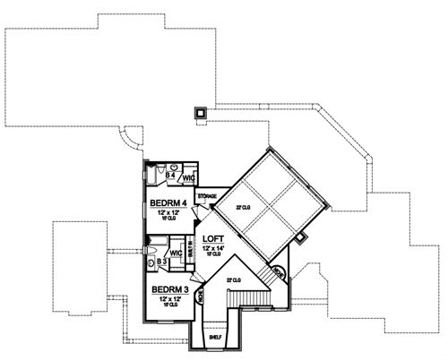 Second Floor image of Featured House Plan: BHG - 4895