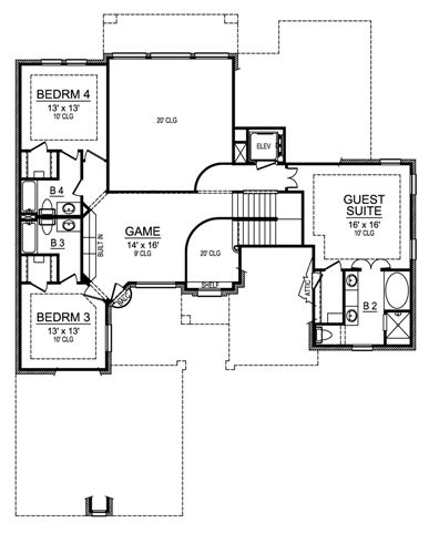 Second Floor image of Featured House Plan: BHG - 4807