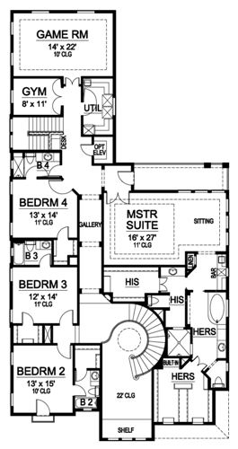 Second Floor image of Featured House Plan: BHG - 5209