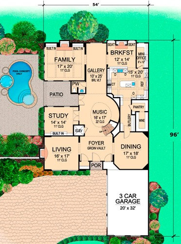 First Floor 2 image of Featured House Plan: BHG - 5130