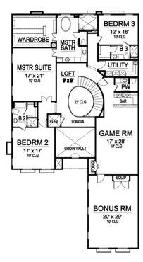 Second Floor image of Featured House Plan: BHG - 5130