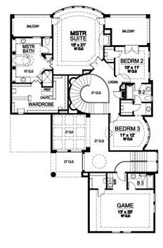 Second Floor image of Featured House Plan: BHG - 5168