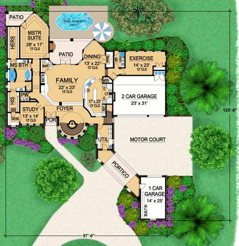 First Floor 2 image of Featured House Plan: BHG - 5169