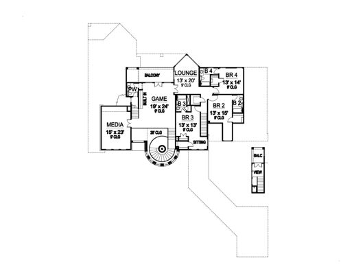 Second Floor image of Featured House Plan: BHG - 5169