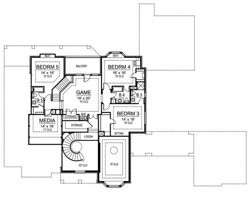 Second Floor image of Featured House Plan: BHG - 4675