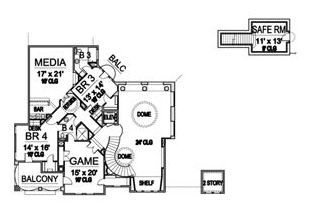 Second Floor image of Featured House Plan: BHG - 5122
