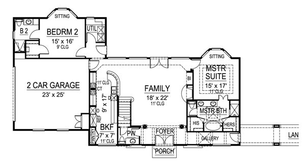 First Floor 2 image of Featured House Plan: BHG - 4477