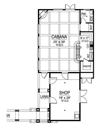 First Floor 3 image of Featured House Plan: BHG - 4477