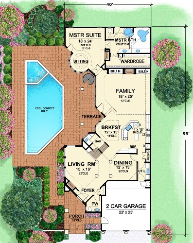 First Floor 2 image of Featured House Plan: BHG - 4479