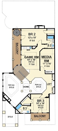Second Floor 2 image of Featured House Plan: BHG - 4479