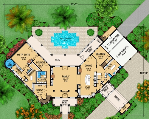 First Floor 2 image of Featured House Plan: BHG - 5131