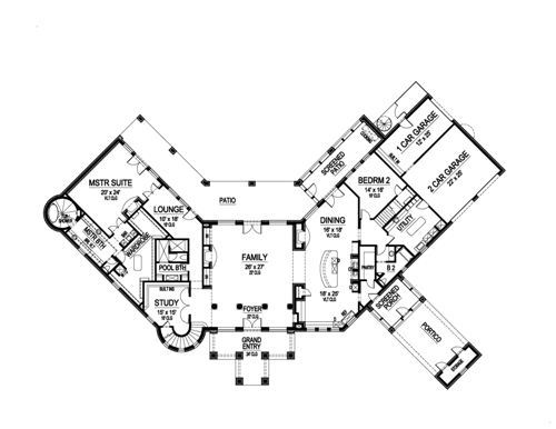First Floor image of Featured House Plan: BHG - 5131