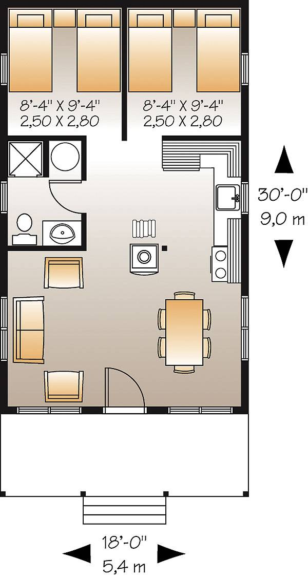 First level image of Featured House Plan: BHG - 1493