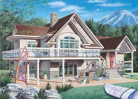 Rear image of Featured House Plan: BHG - 4441