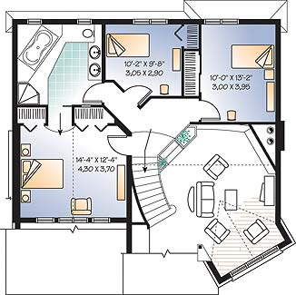 Second level image of Featured House Plan: BHG - 3327