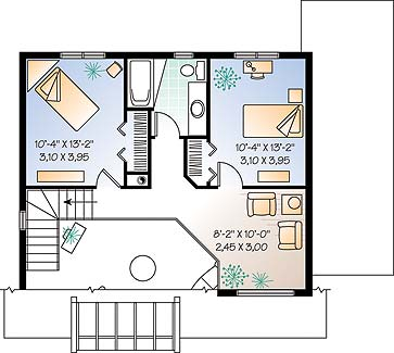Second level image of Featured House Plan: BHG - 4571