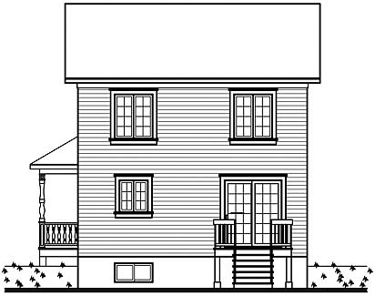 Rear image of Featured House Plan: BHG - 4554