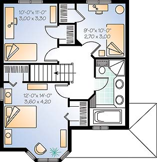 Second level image of Featured House Plan: BHG - 4554