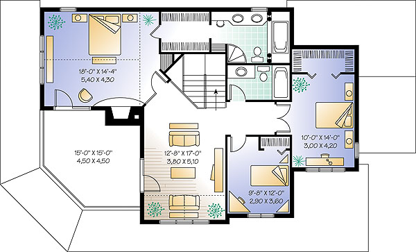Second level image of Featured House Plan: BHG - 1149