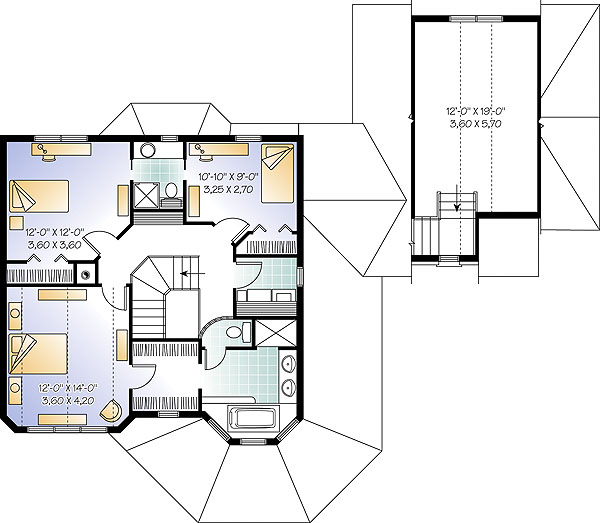 Second level image of Featured House Plan: BHG - 1193