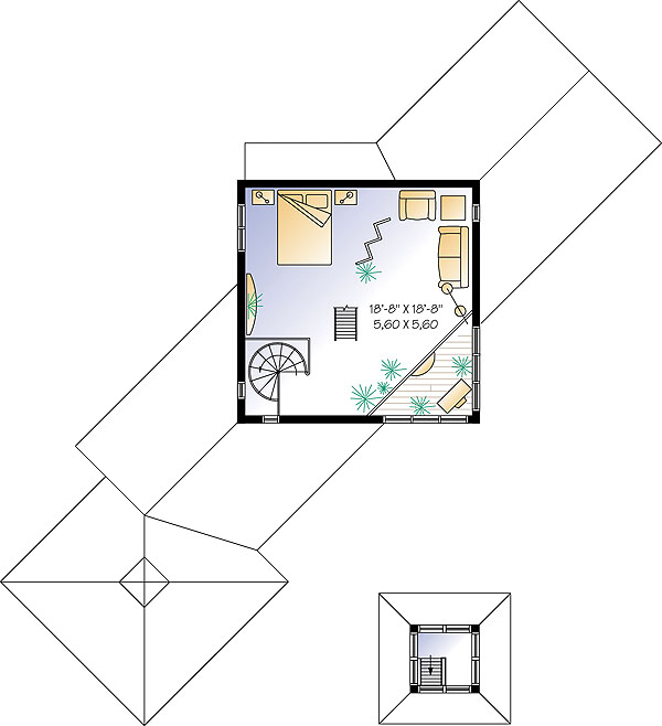 Second level image of Featured House Plan: BHG - 1194
