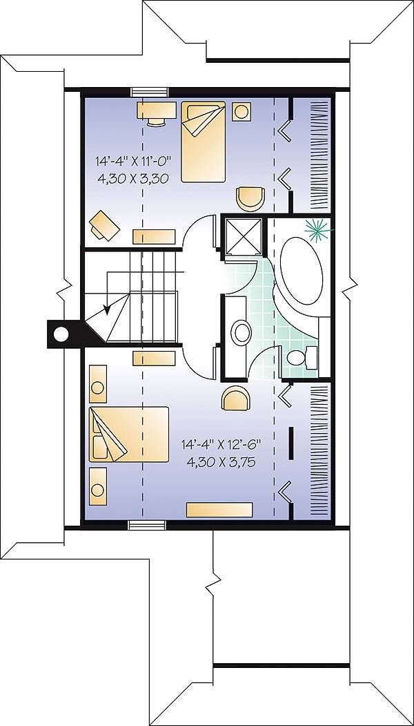 Second level image of Featured House Plan: BHG - 1195