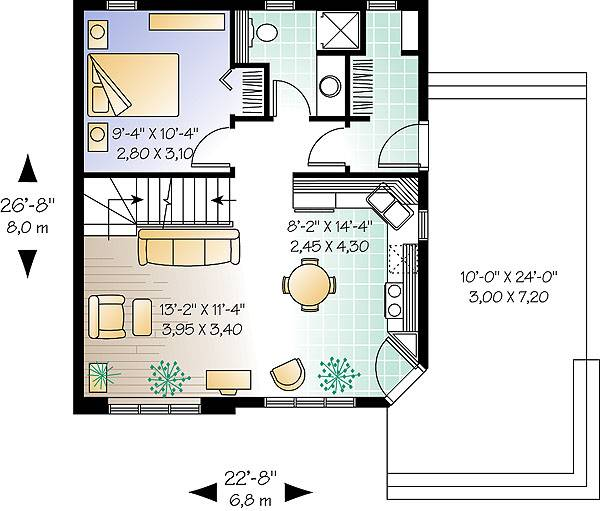 First level image of Featured House Plan: BHG - 1196