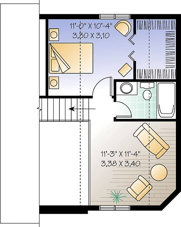 Second level image of Featured House Plan: BHG - 1196
