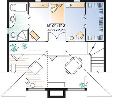 Second level image of Featured House Plan: BHG - 4549