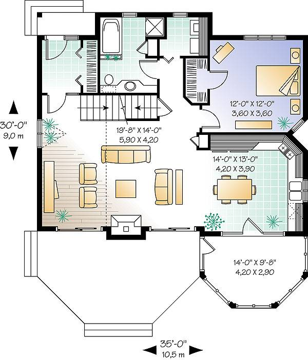 First level image of Featured House Plan: BHG - 1160