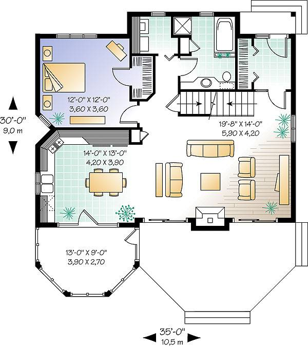 First level image of Featured House Plan: BHG - 1483