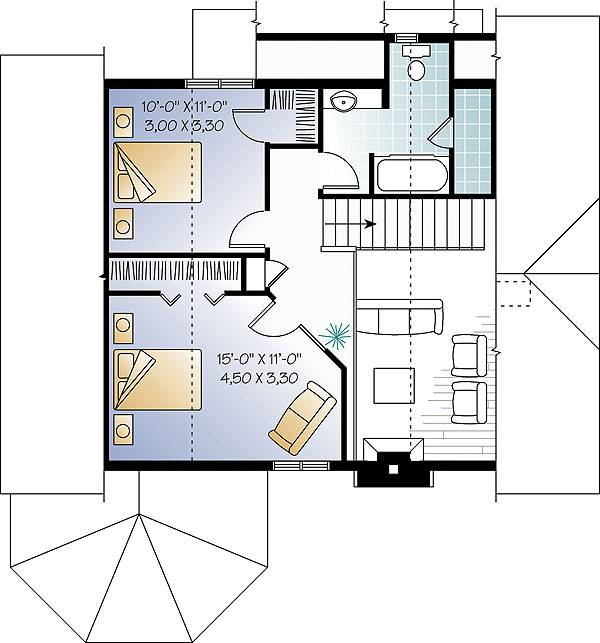 Second level image of Featured House Plan: BHG - 1483