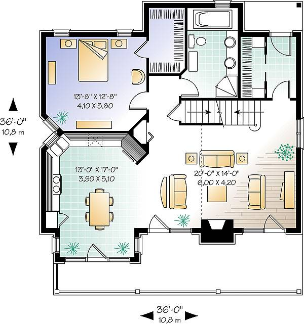 First level image of Featured House Plan: BHG - 1403