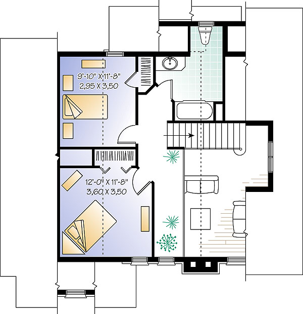 Second level image of Featured House Plan: BHG - 1403