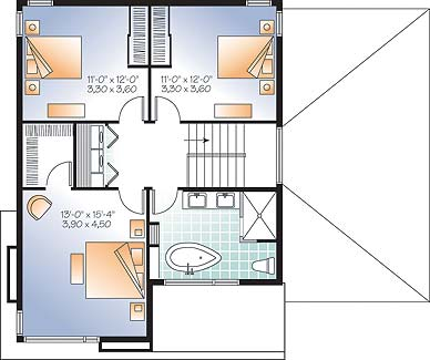 Second level image of Featured House Plan: BHG - 3307