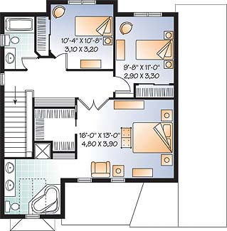 Second level image of Featured House Plan: BHG - 3685
