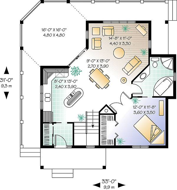 First level image of Featured House Plan: BHG - 1145