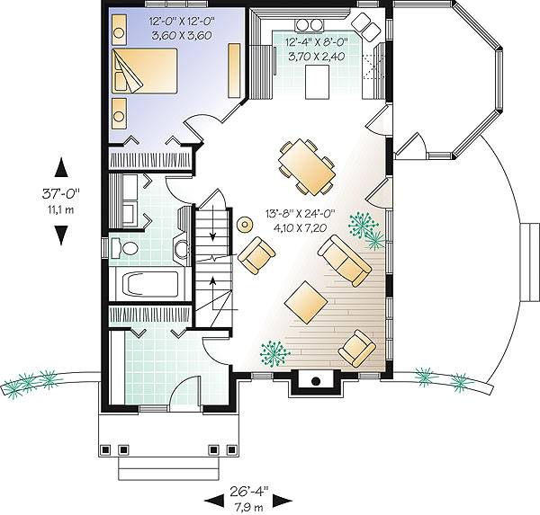 First level image of Featured House Plan: BHG - 1405