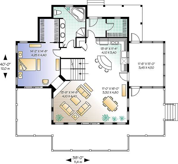 First level image of Featured House Plan: BHG - 1144