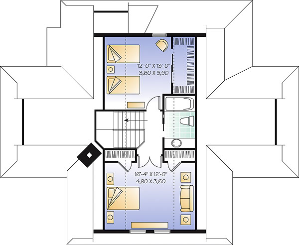 Second level image of Featured House Plan: BHG - 1144