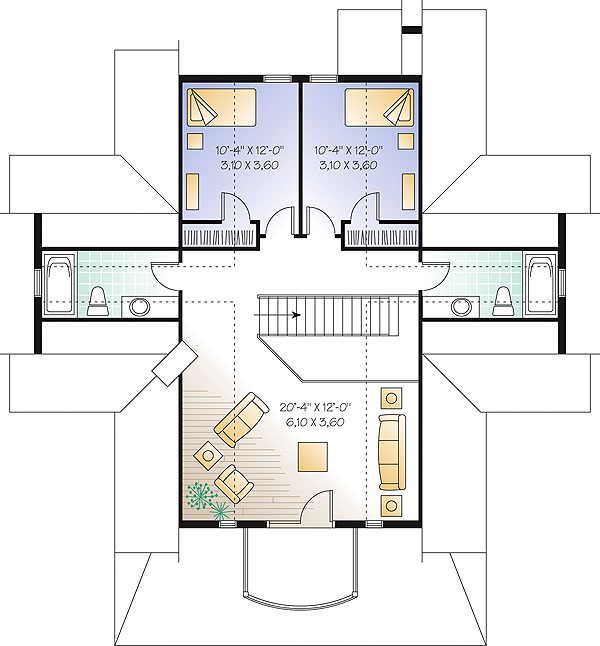 Second level image of Featured House Plan: BHG - 1428